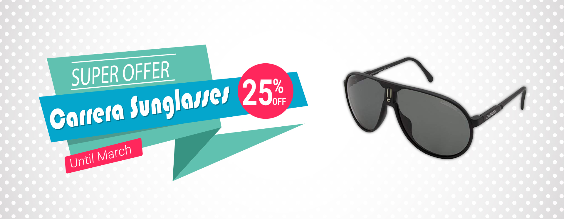 Carrera Sunglasses less 25% (Until March)